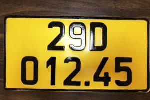 Những quy định mới về biển số xe